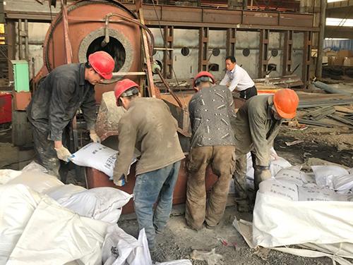 加热炉低水泥浇注料施工中